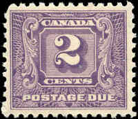 Mint H Canada 1930-32 F-VF Scott #J7 2c Postage Due Stamp