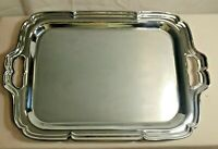 Vintage 1961 Farberware Stainless Steel Serving Tray Platter With Handles 16""