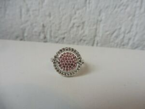 Beautiful Ring,Changeable Ring, Pink U. Light Blue Stones, Swarovski, 60