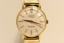 "VINTAGE RARE BEAUTIFUL CLASSIC GOLDEN PLATED MEN'S SWISS MECHANICAL WATCH""SALEM"""