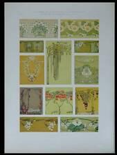 ORNEMENTS ART NOUVEAU -1909- LITHOGRAPHIE, SOLC, FLEURS