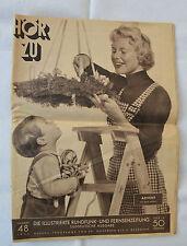 HÖR ZU 1954 Nr. 48 - Die illustrierte Rundfunk- und Fernsehzeitung - Süddt. Ausg