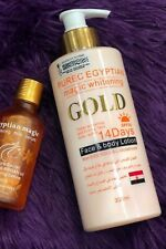 PUREC EGYPTIAN GOLD MAGIC WHITENING FACE & BODY and Serum
