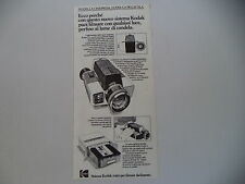 advertising Pubblicità 1972 CINEPRESA KODAK