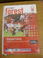 12/09/2001 Nottingham Forest v Stockport County [Football League Cup] . This ite