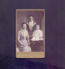 CDV,2 Young Women and a Baby photo Charles McKean,Portobello Edinburgh  RS3