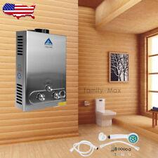 8L Propane Gas Lpg 3.2GPM Instant Bath Hot Water Heater Tankless Boiler w/Shower