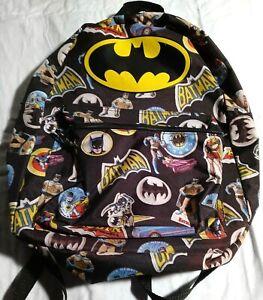 Batman Backpack Robin Figures Vintage School Book Bag Purse Batmobile Tote