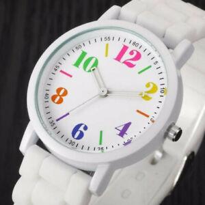 Fashion New Lady Watches Women Analog Silica Jelly Gel Quartz Sports Wrist Watch