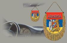 ARMENIA REAR VIEW MIRROR WORLD FLAG CAR BANNER PENNANT