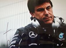 TOTO WOLFF firmata 12x8 F1 Mercedes-AMG direttore esecutivo del team Ritratto 1