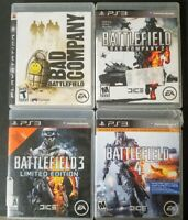Battlefield Collection - PS3 - Lot Of 4 Games - tested - Bad Company