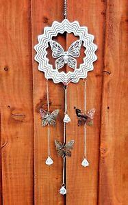 Wind Chime Spinner Dream Catcher Butterfly Mirror Metal Garden Home Dreamcatcher