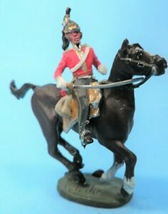 """2 1/4""""  BRITISH DRAGOON NAPOLEONIC MOUNTED SOLDIER (see detail!)"""