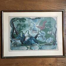 Gravure Ancienne Ange Gabriel XVIIIè Gouachée Encadrée French Etching 18thC