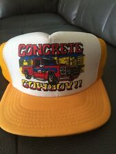 trucker hat baseball Cap Concrete Cowboy Pickup old school Mesh vintage SnapBack