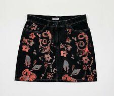 Max co minigonna jeans donna usato W28 tg 42 F40 skirt denim woman used T5574