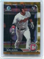 2019 Bowman Chrome RC Jake Bauers Gold Refractor 25/50 Indians