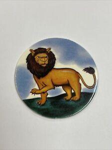 Lion Milk Cap - Vintage Jots USA Pogs - Blue Back - 1994 Pog Griffin