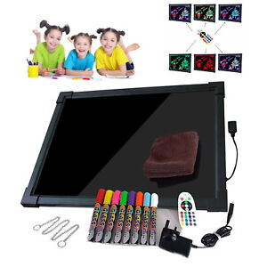 Sensory LED Drawing Board Kid's Writing Toy Autism ADHD Light Up Christmas Gift