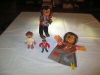 Vintage Genuine Steiff Hedgehog Dolls and Hand Puppet