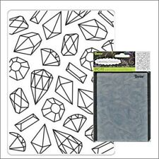 Gems Background embossing folder Darice embossing folders diamond engagement
