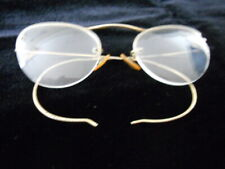 762d1ca737c Vintage Gold Tone Rimless Wire Framed Bifocal Glasses Spectacles Cat Eye  Shape