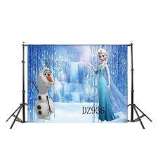 Snow Elsa Vinyl Backdrop Photography Background Photo Studio Props 5X3FT DZ936