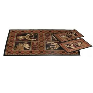 NWT 3-Piece Game Hunter Rug United Weavers Bass Pro Shop
