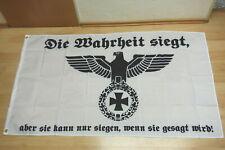 Fahne Flagge Deutsches Reich Die Wahrheit siegt Reichsadler - 90 x 150 cm