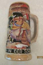 HANDPAINTED 1L WEST GERMAN BEER STEIN -VINTAGE 1949+