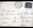 SAVIGNY-en-SEPTAINE (18) ENVELOPPE Oblitération postale 1896 par DUN-sur-AURON