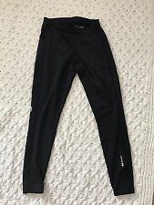 Women's SUGOi MED fleece lined skinny leggings pants drawstring waist EUC