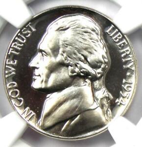 1954 Proof Jefferson Nickel 5C Coin - NGC PR69 Cameo (PF69) - $700 Value!