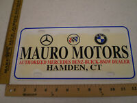 MAURO MOTOR MERCEDES BENZ HAMDEN CONNECTICUT PLASTIC BOOSTER FRONT LICENSE PLATE