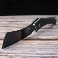 "7.9"" FH11 60-61HRC Knives D2 Blade G10 Handle Tactical Bearing Flipper Folding"