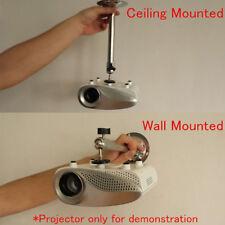 Wall Ceiling LCD DLP Mini Projector Bracket 360° Swivel Mount Holder UK
