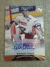 2004-05 Upper Deck All World Roman Turek Autograph #1 Calgary Flames