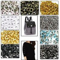 100pcs 2mm-12mm Brass Eyelets Grommets Clothing Craft Repair Bag Shoes Belt DIY