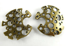 29x30mm Antique Brass Steampunk Moon Filigree Findings • Q6• 49380