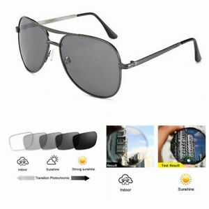 Gunmetal Silver Pilot Aviator Prescription Photochromic Reading Glass +0.25~+6.0