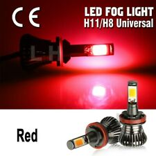 2pcs 12V Led H11 H9 H8 Cob Bulbs Red Flash/Still Mode Car Fog Drl Light kit Lamp