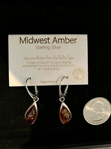 Midwest Amber Sterling Silver Earrings
