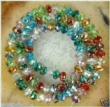 72pc 6x8mm Multicolor Crystal Gemstone loose beads