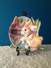 """Fitz & Floyd """"Painting Easter Eggs"""" 8-1/2"""" Canape/Charger Plate 2004-2004"""