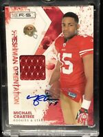 2009 Michael Crabtree Auto Patch Rookie Card San Francisco 49ers