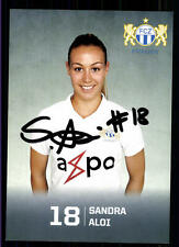 Sandra Aloi Autogrammkarte FC Zürich Original Signiert + A 123132