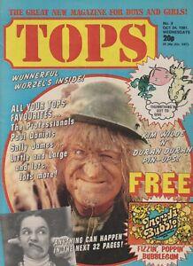 TV Tops # 3 (24th Oct 1981) Jon Pertwee Adam Ant The Professionals Duran Duran