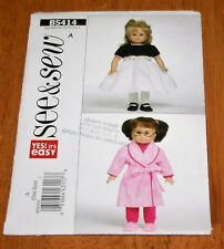 Butterick Pattern #5414 - 18 Inch Doll Clothes Uncut Dress - Robe - Pajamas