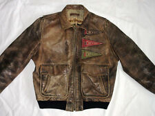 * Charles Chevignon aviador chaqueta de cuero * Old Flight Thornes Jacket * GR: l * Tip Top